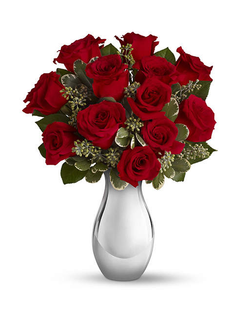 Bouquet di 12 roselline rosse a Roma