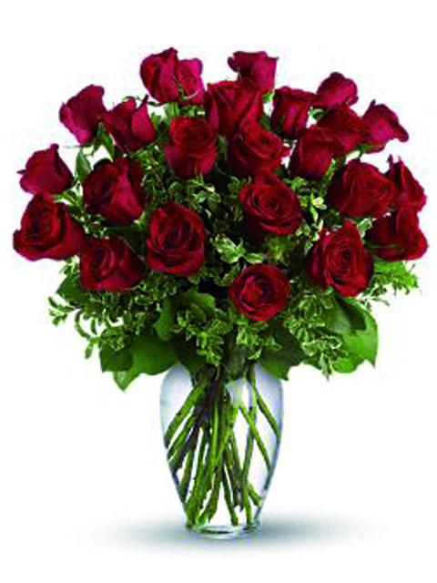Bouquet di 24 roselline rosse a Roma
