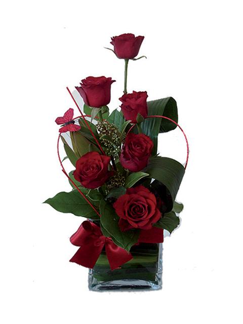Fascio 6 Rose rosse a Roma