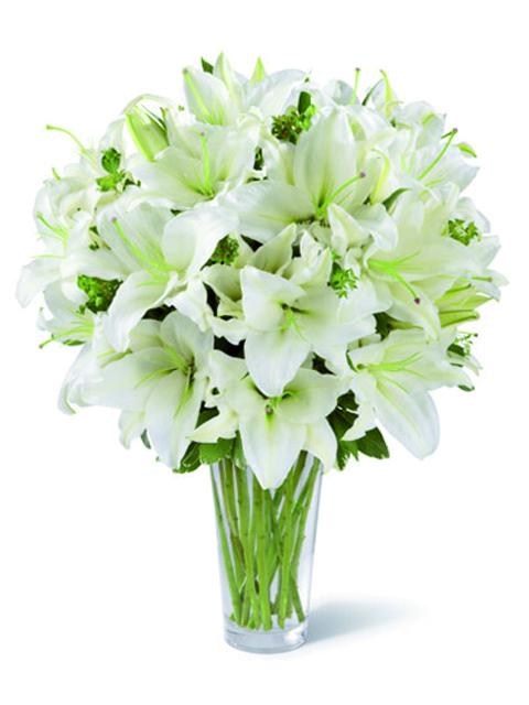 Bouquet di gigli bianchi a Roma