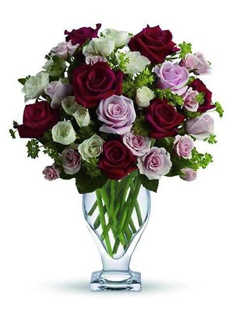 Bouquet di rose dai toni rosa a Roma